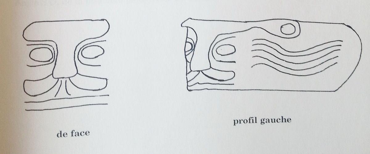 Croquis de E. Le Seach , 1997,Les crossettes et les gargouilles dans quatre cantons du Finistère, mémoire dactylographié.