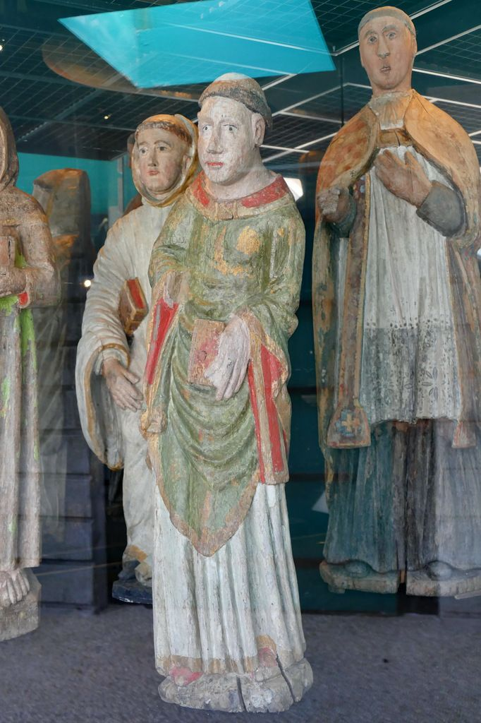 Statue de saint Guénolé, Musée de Landévennec. Photographie lavieb-aile mai 2019.