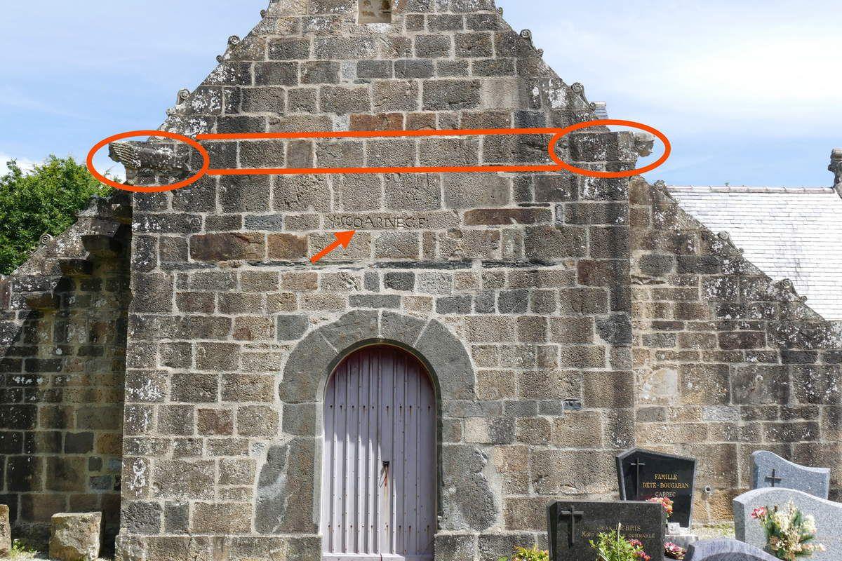 Crossette de  l'église de Trégarvan. Photographie lavieb-aile 15 mai 2019.