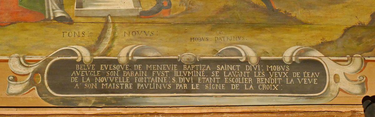 Lambris peints (1676) du chœur de l'église de Saint-Divy. Photographie lavieb-aile.