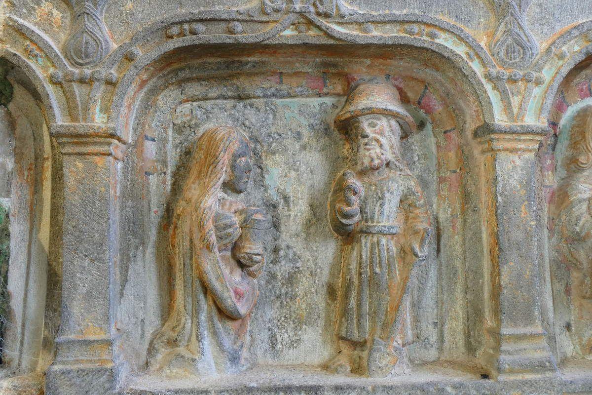 Le Noli me tangere et le Repas d'Emmaüs du Pénity de Locronan.