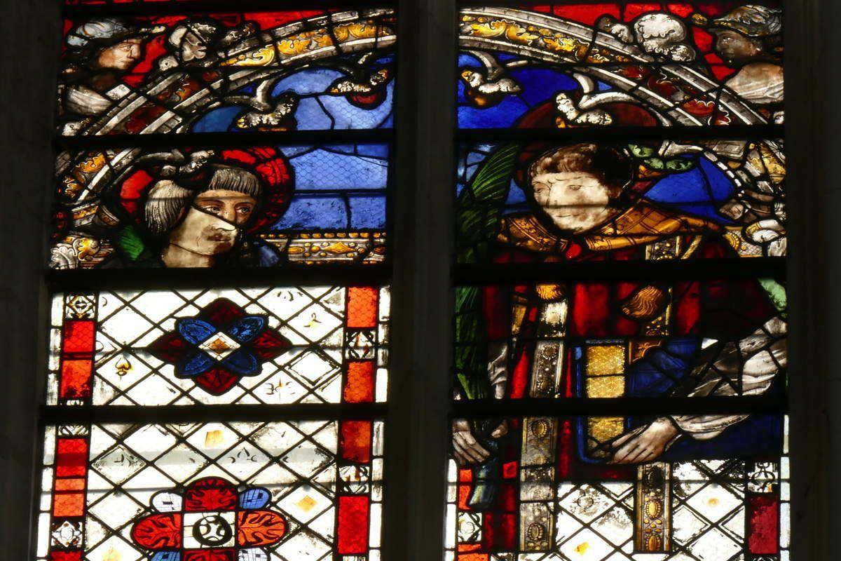 Baie 133 (début XVIe siècle) de la cathédrale d'Auxerre. Photographie lavieb-aile août 2019.