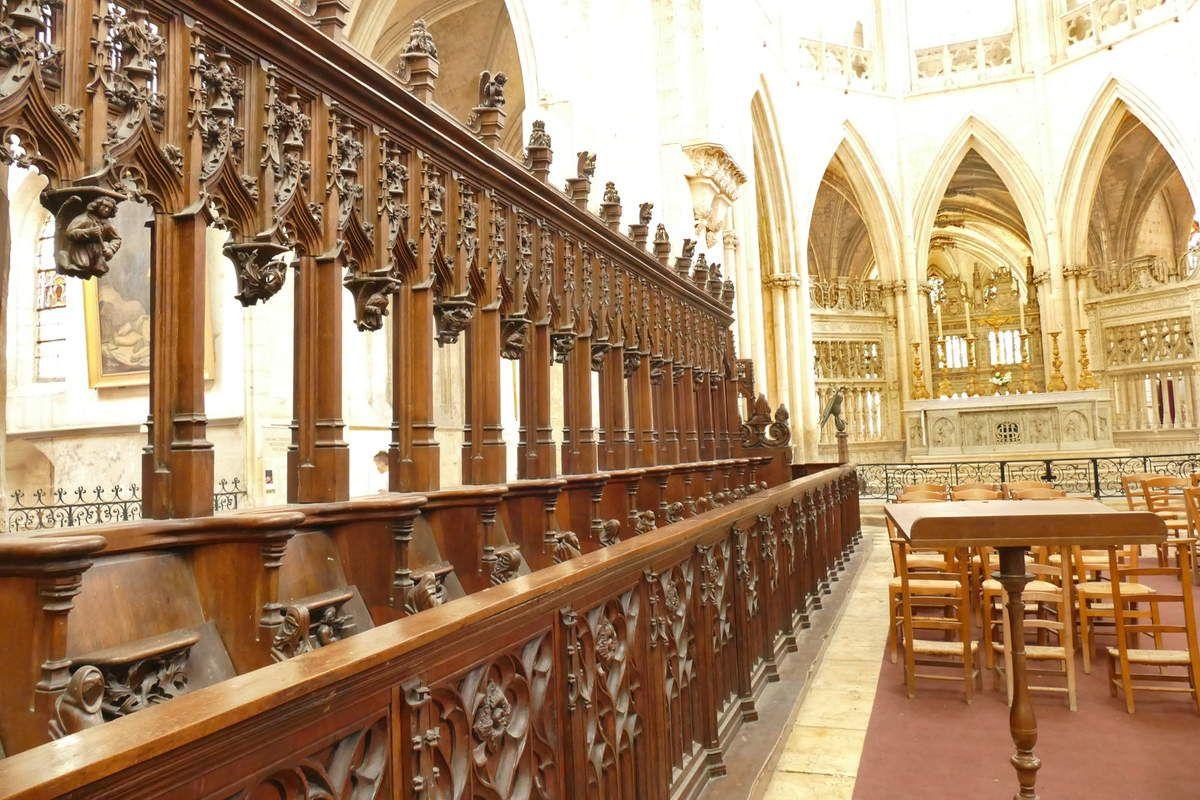 Stalles de l'église de la Trinité de Vendôme. Photographie lavieb-aile août 2019.