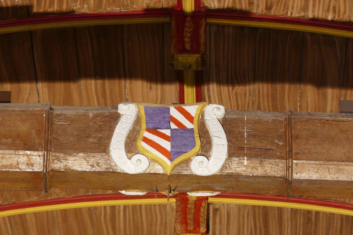 Entrait   de l'église Saint-Mahouarn de Plomodiern. Photographie lavieb-aile.