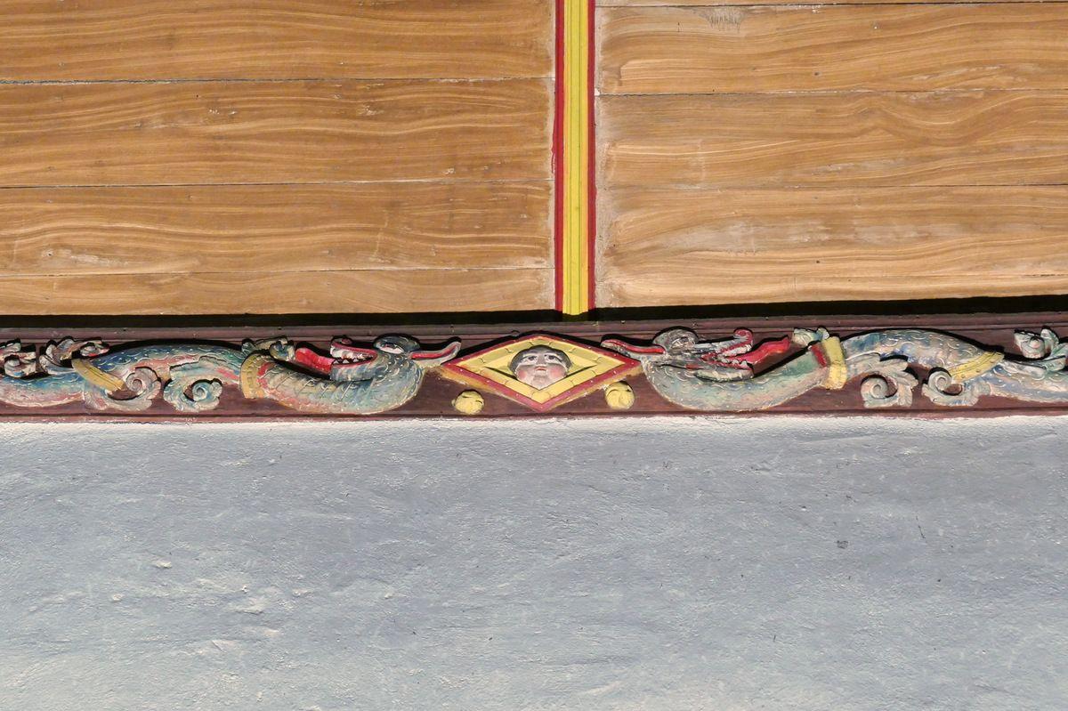 Sablières  de l'église Saint-Mahouarn de Plomodiern. Photographie lavieb-aile.
