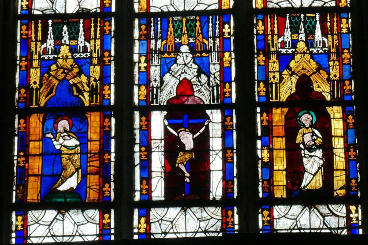 Baies 16, 18 et 20 de la cathédrale d'Évreux. Photographie lavieb-aile.