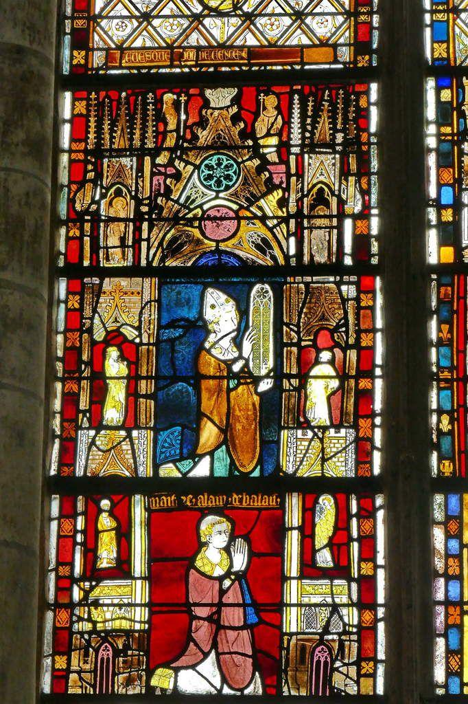 La baie 23 (vers 1325-1330) de la cathédrale d'Évreux. Photographie lavieb-aile.