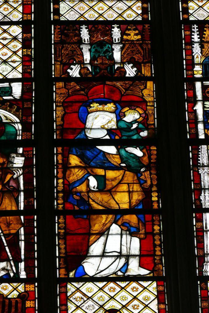 La baie 212 du chœur de la cathédrale d'Évreux. Photographie lavieb-aile.