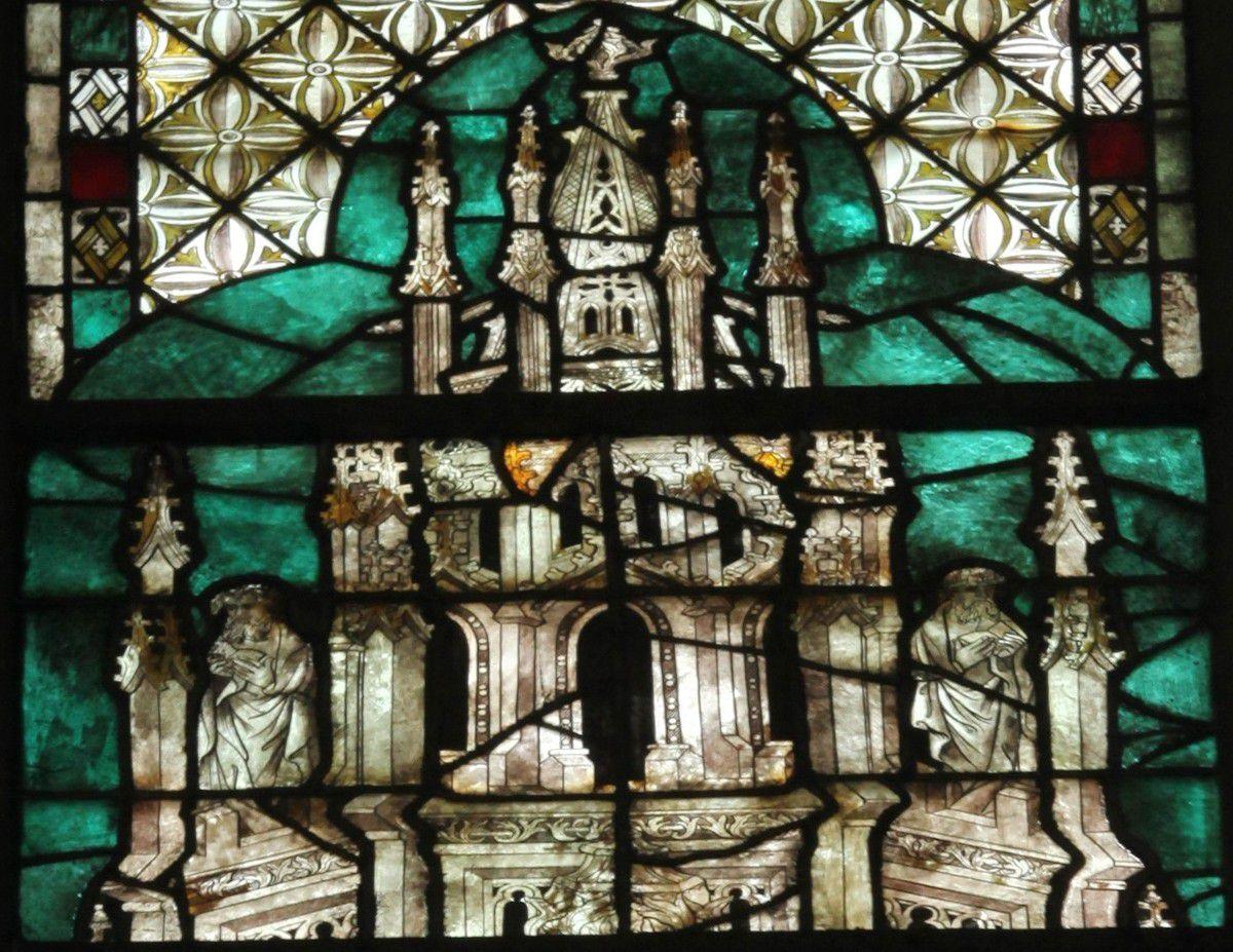 Les vitraux du XIVe siècle de la cathédrale d'Évreux. XVII. La baie 127 de la nef.