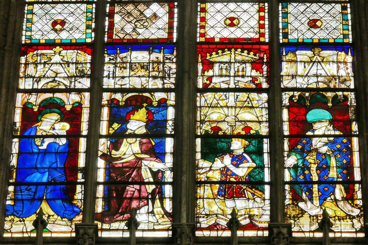 Baie 209 du chœur de la cathédrale d'Évreux. Photographie lavieb-aile.
