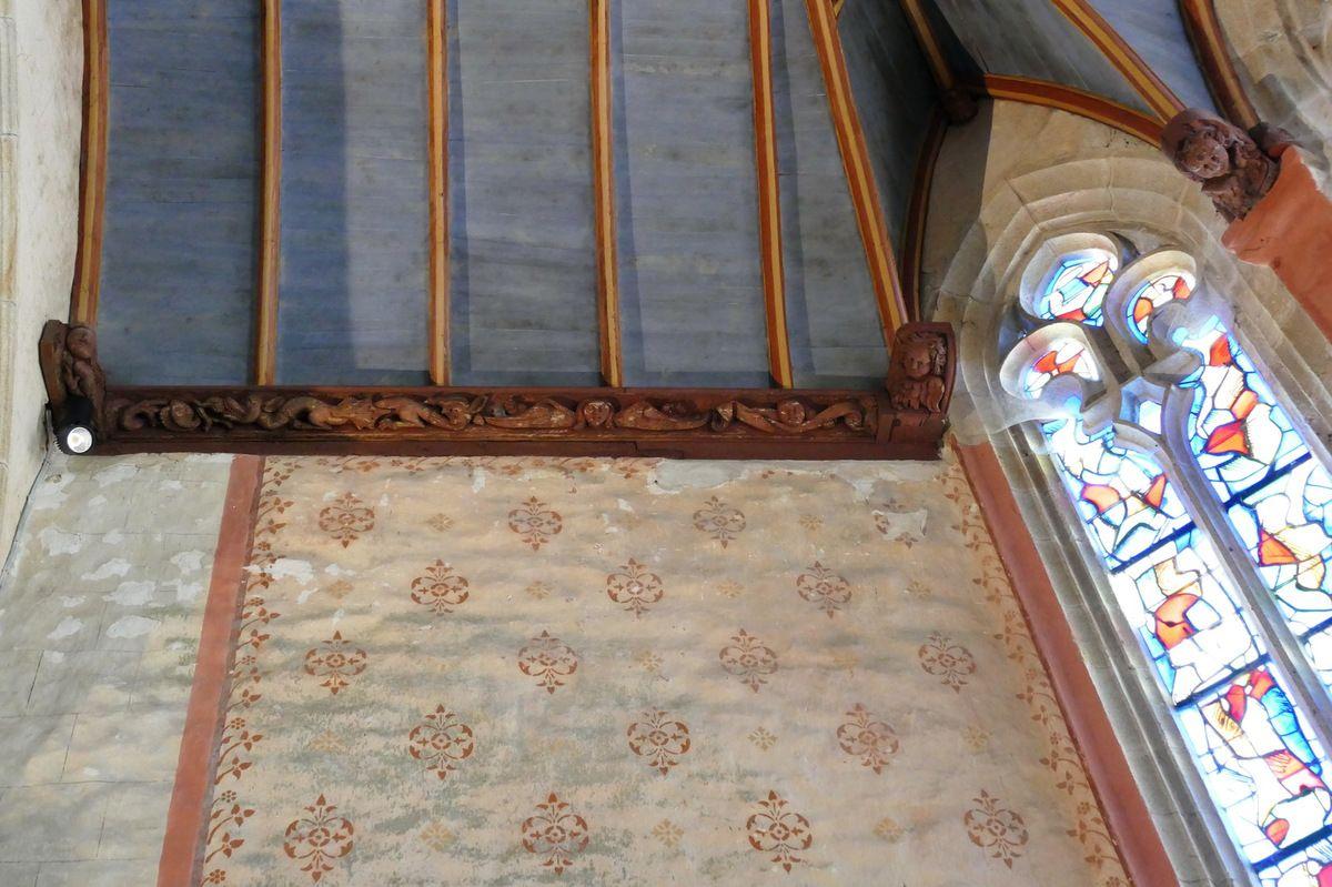 Sablières de l'église Notre-Dame de Confort-Meilars. Photographie lavieb-aile mai 2019.