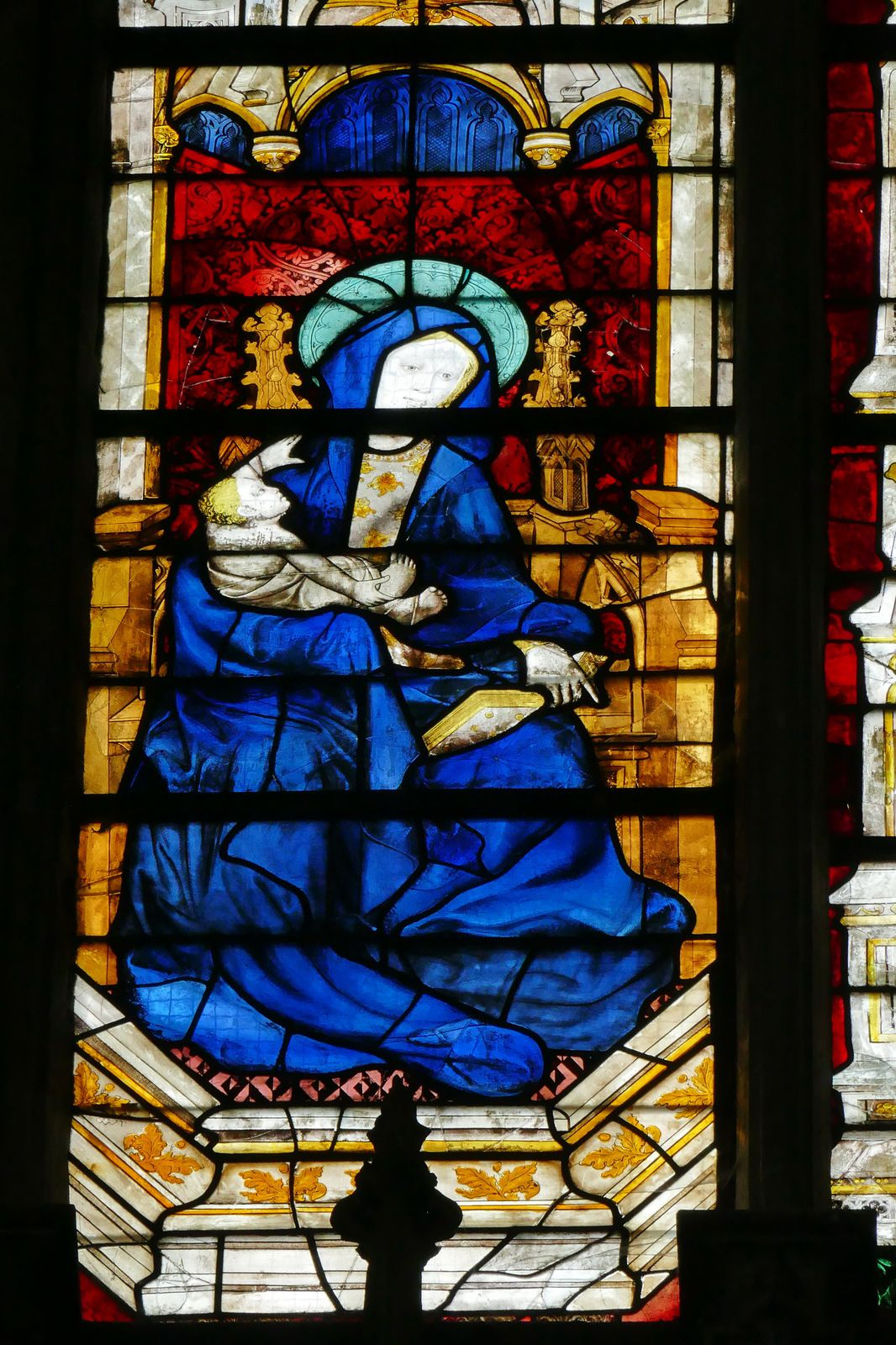 Baie 210  du chœur de la cathédrale d'Évreux. Photographie lavieb-aile.