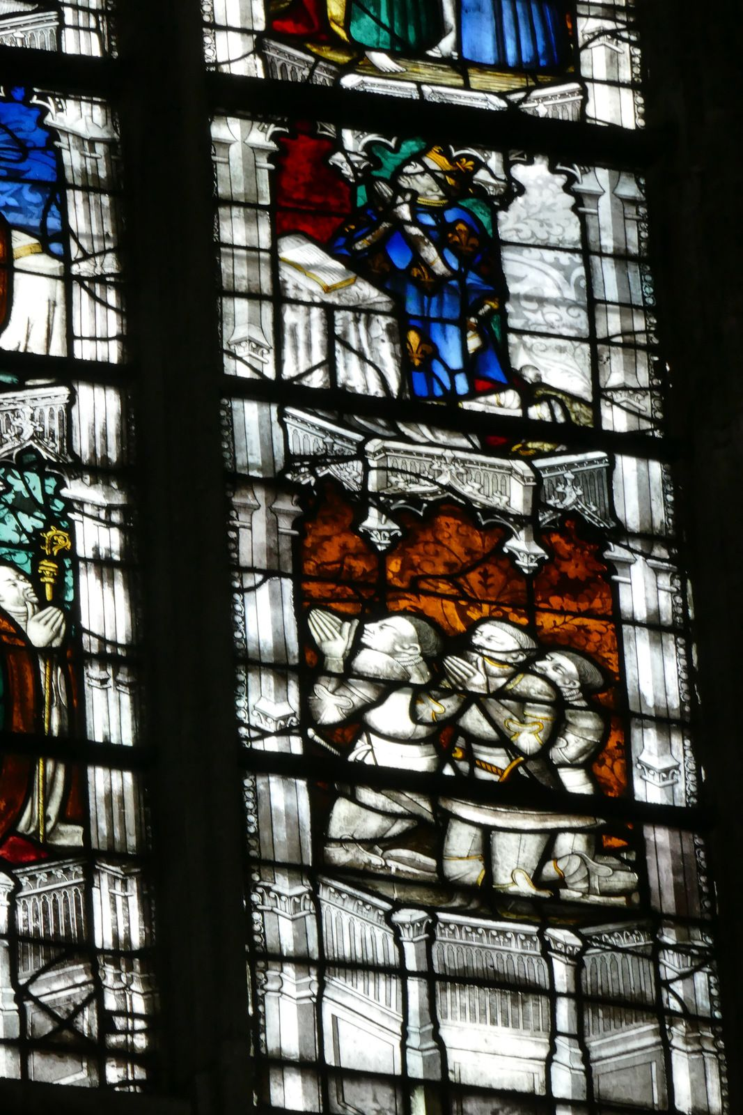 Baie 213  du chœur de la cathédrale d'Évreux. Photographie lavieb-aile.