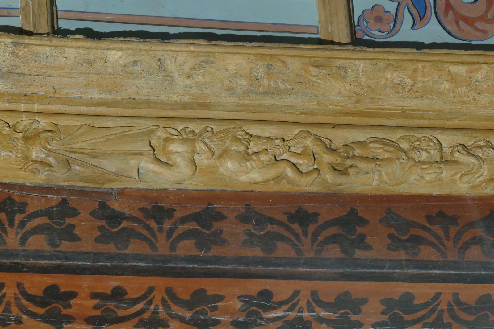 Sablières (milieu XVIe) de l'église de Pont-Croix. Photographie lavieb-aile.