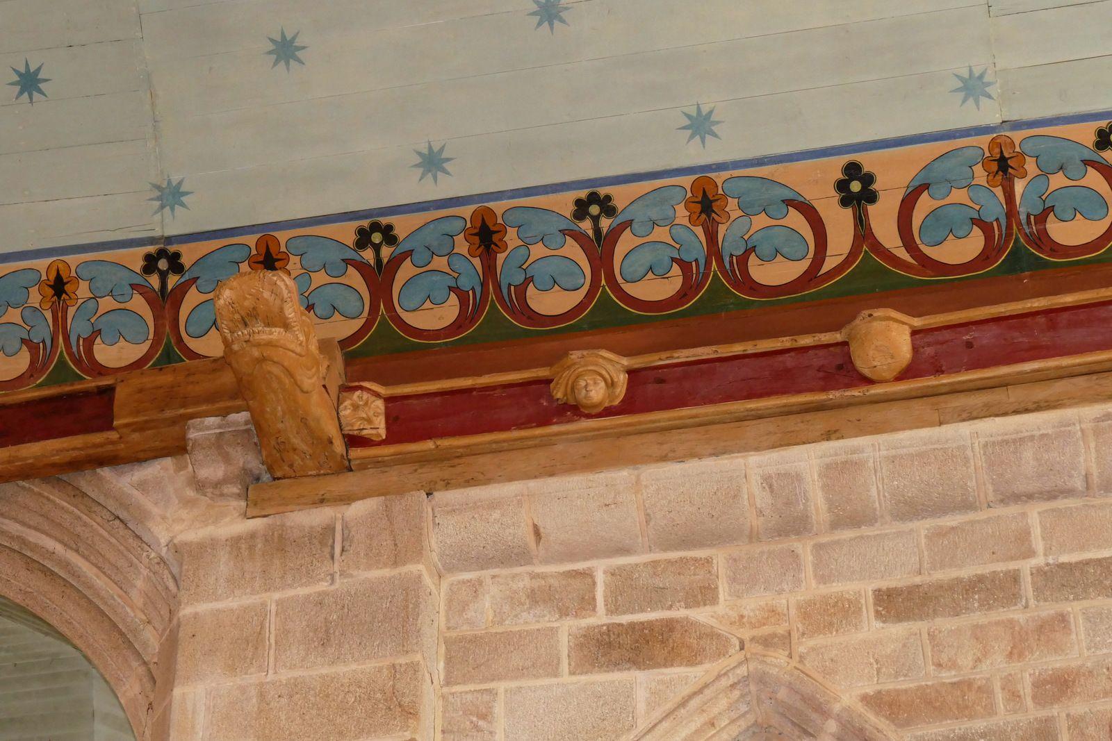Sablières (début XVIe) de l'église de Pont-Croix. Photographie lavieb-aile.