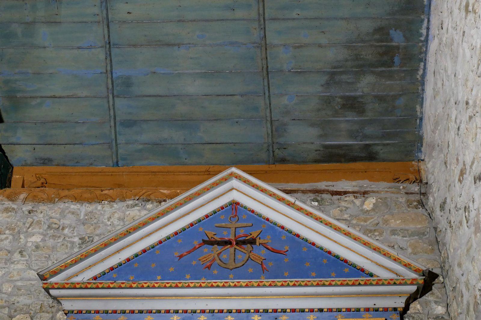 Sablières (vers 1659 ?) de l'église de Landévennec. Photographies lavieb-aile janvier 2020.