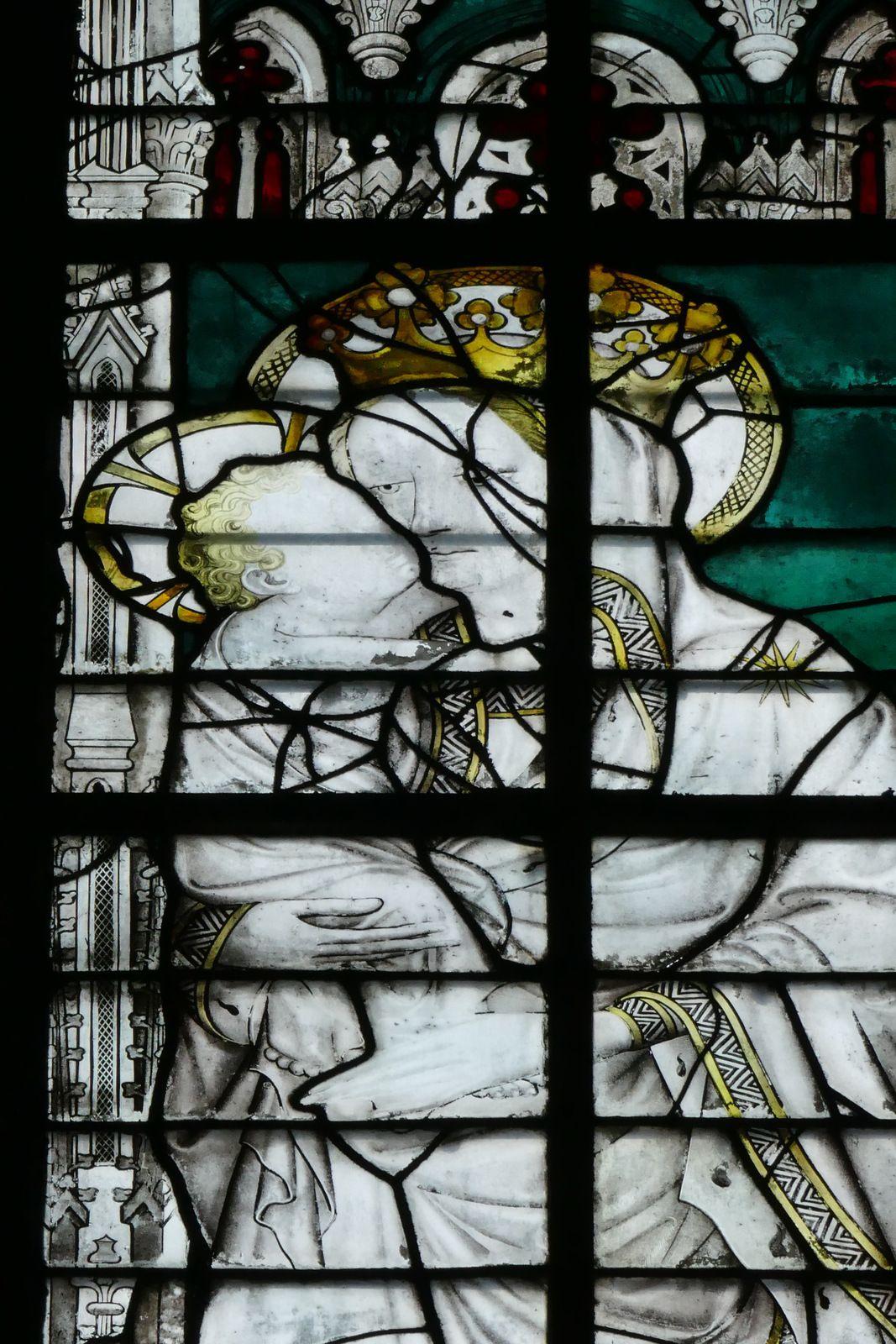 La baie 129 de la nef de la cathédrale d'Évreux. Photographie lavieb-aile.