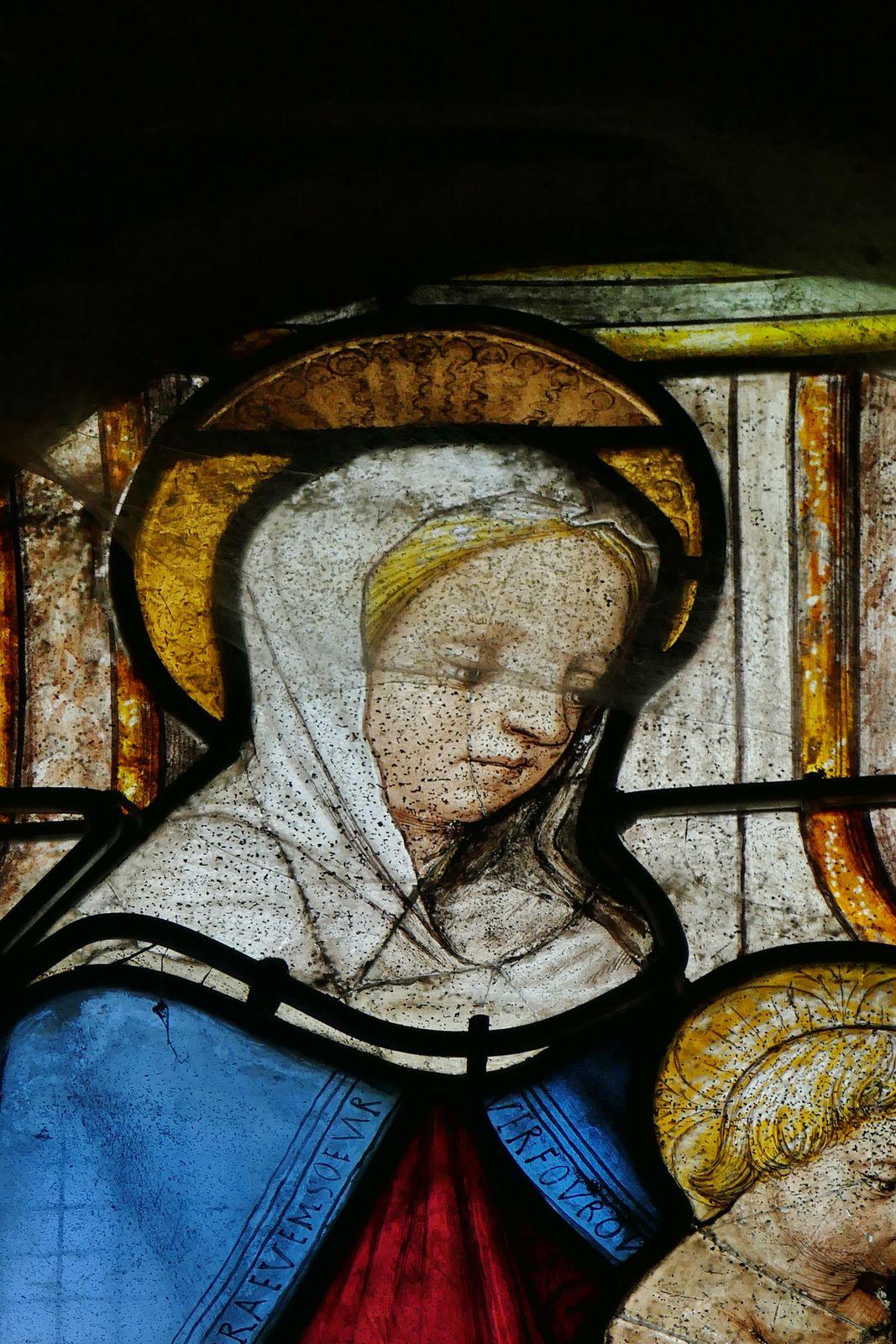 Maîtresse-vitre (v. 1520, atelier quimpérois) de l'église de Plogonnec. Photographie lavieb-aile.