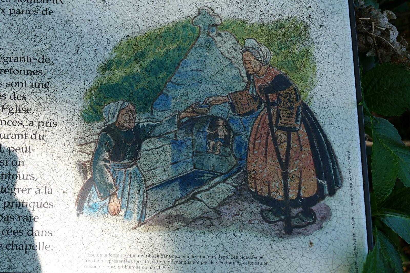 Cartel de la chapelle Saint-Vendal à Pouldavid (Douarnenez). Photographie lavieb-aile.