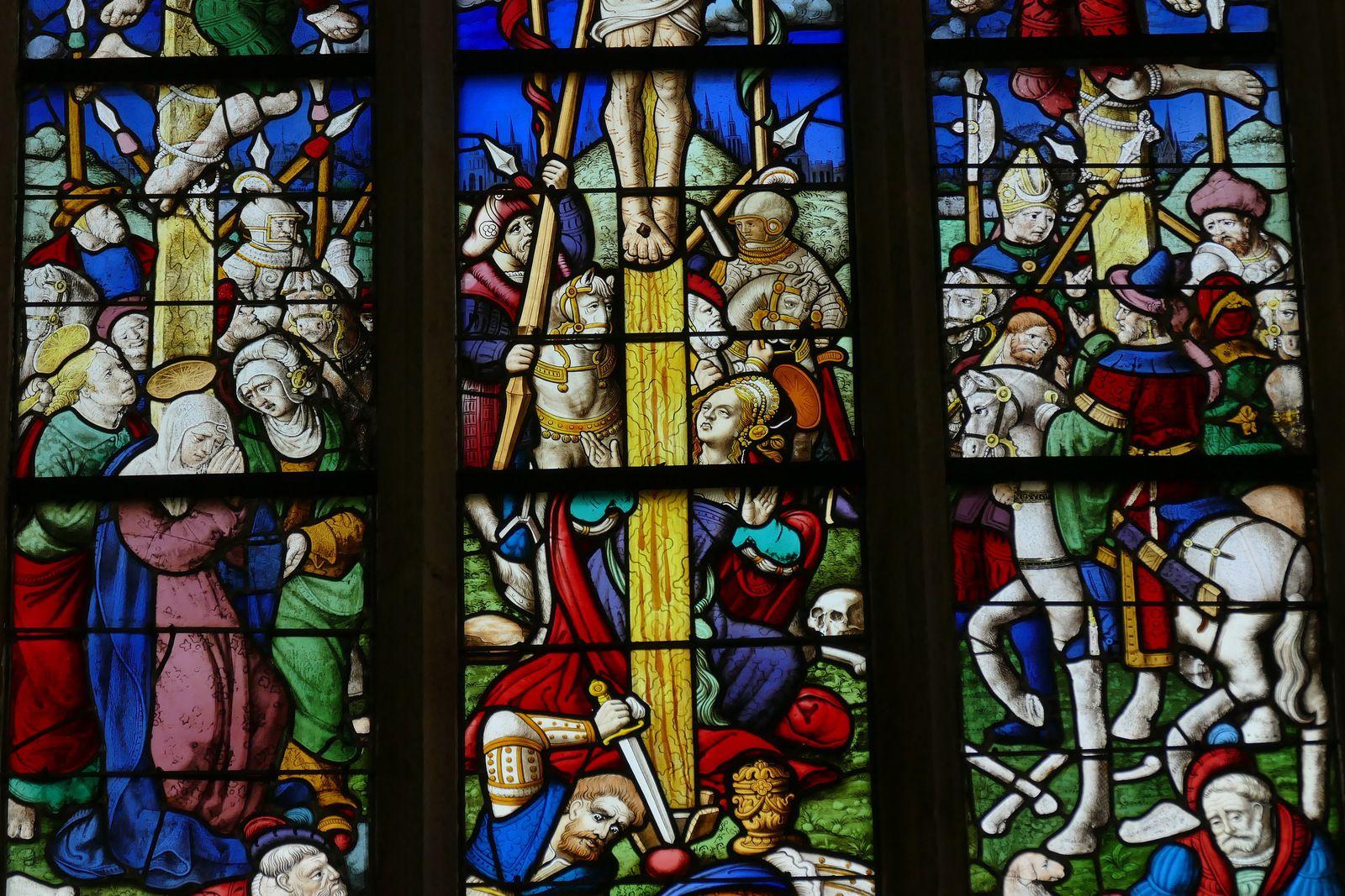 Baie 0 (v. 1535) de l'église Saint-Mathieu de Quimper. Photographie lavieb-aile 2019.