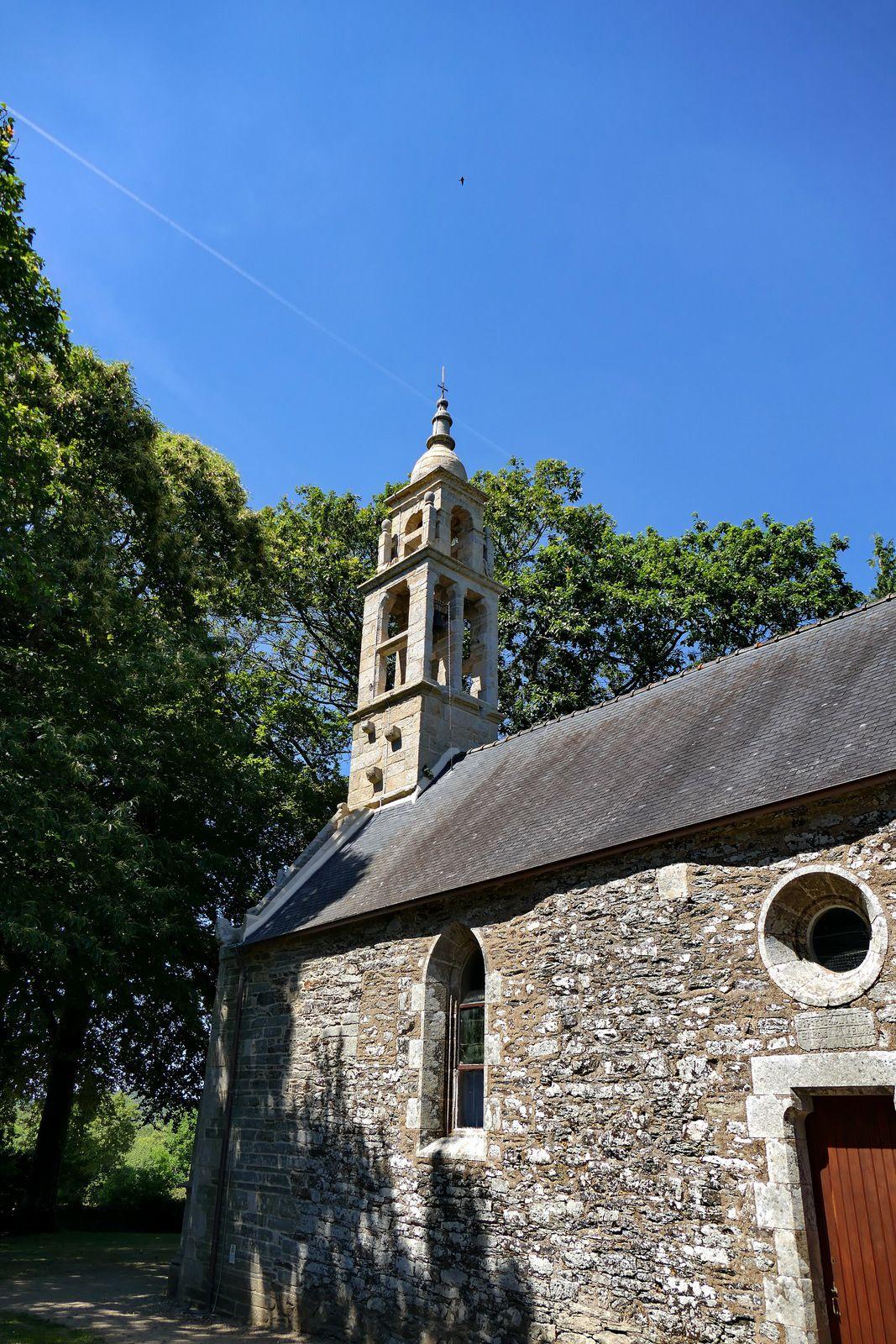 Clocher de la Chapelle Notre-Dame de Kerluan. Photo lavieb-aile.