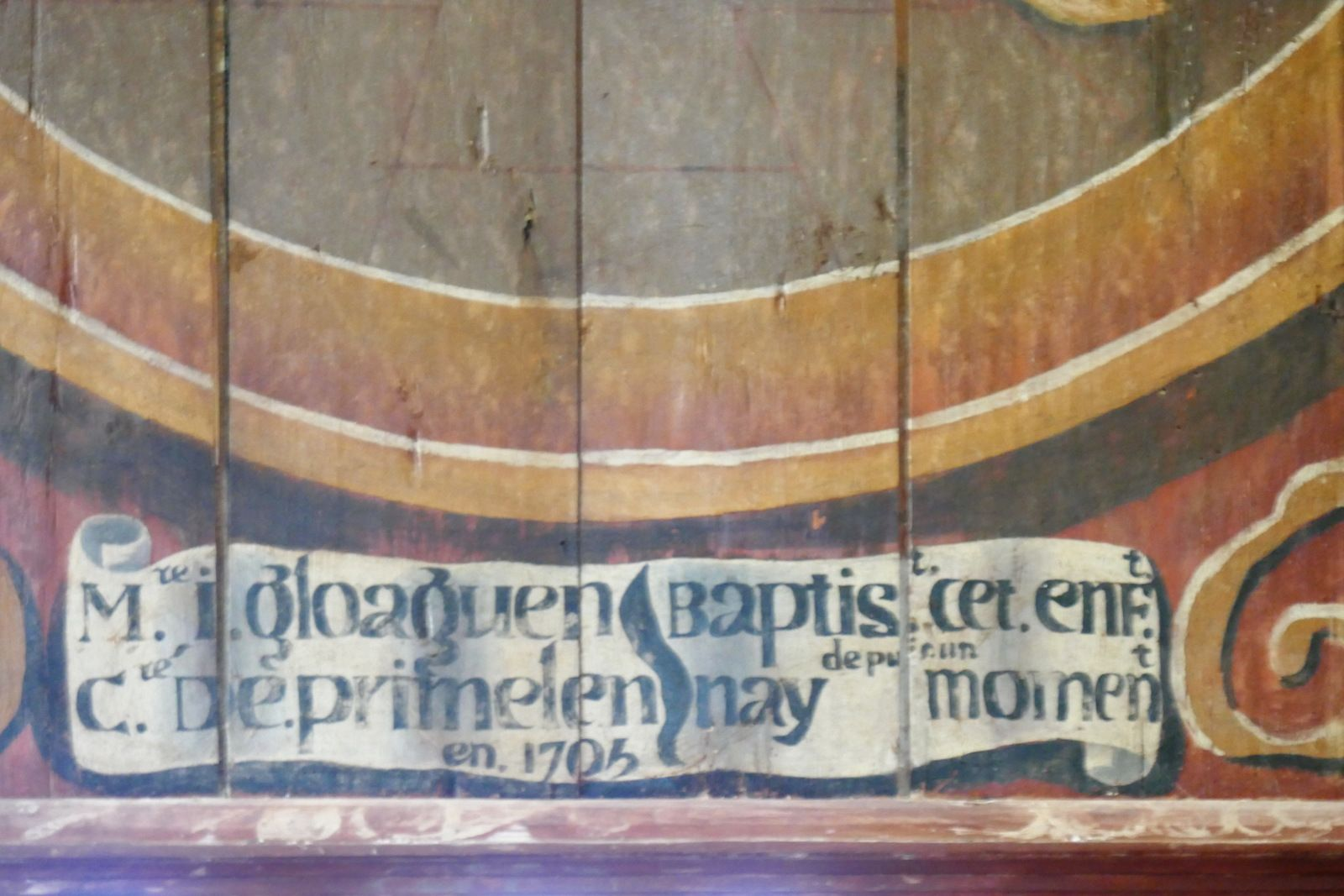 La chapelle Saint-Tugen en Primelin : l'intérieur. Photographie lavieb-aile 2015.