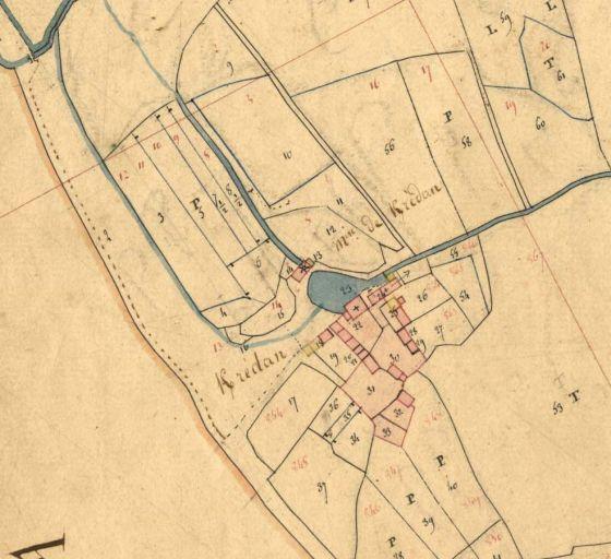 Plan cadastral du moulin de Kerledan (Telgruc) 1831
