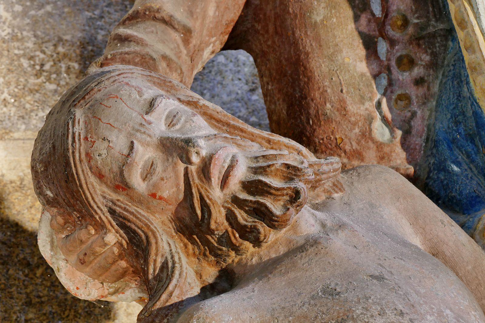 Déploration (kersantite polychrome, v.1525), chapelle du Penity, église de Locronan. Photographie lavieb-aile 2020.