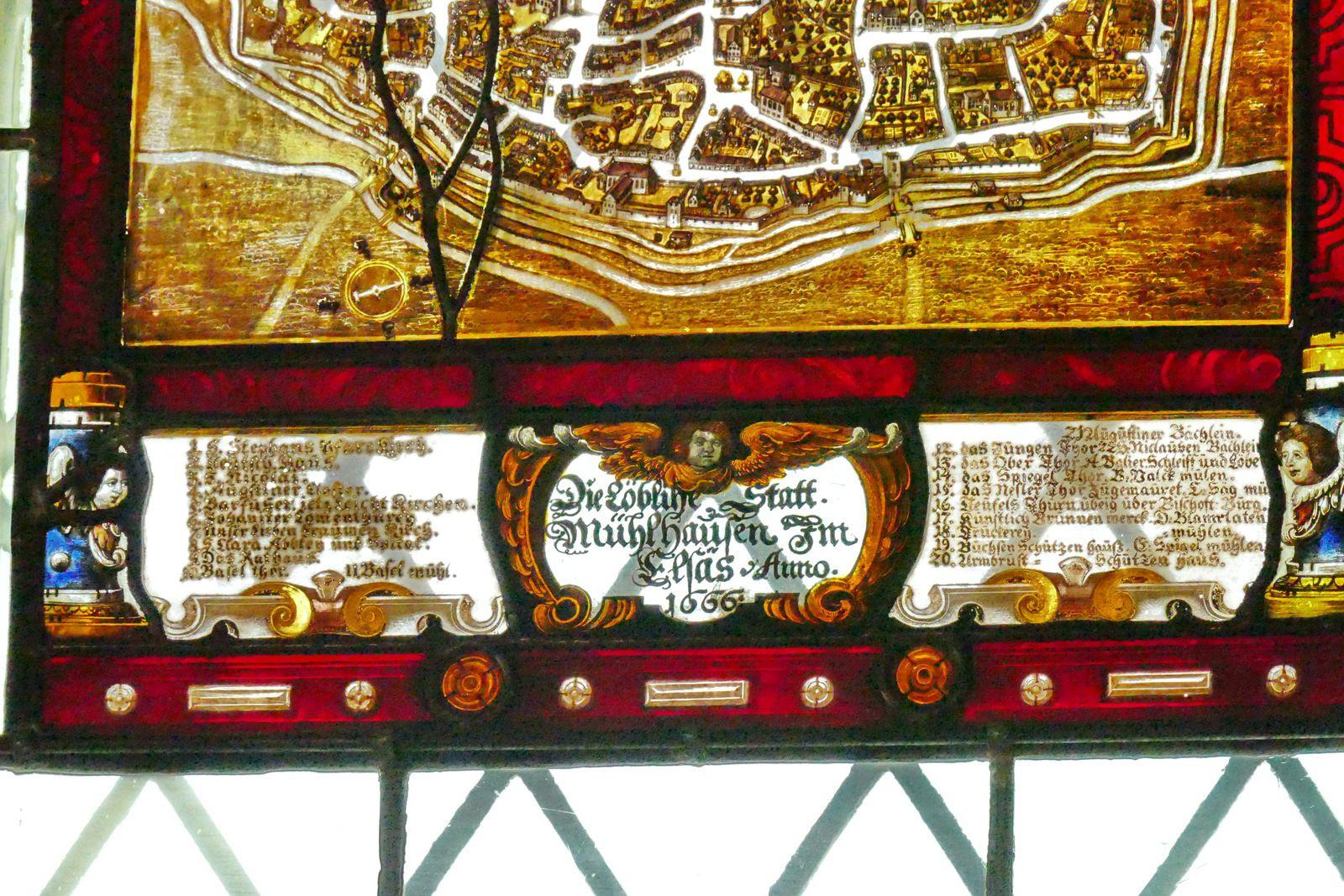 Vitraux du Musée historique de Mulhouse. Photographie lavieb-aile.