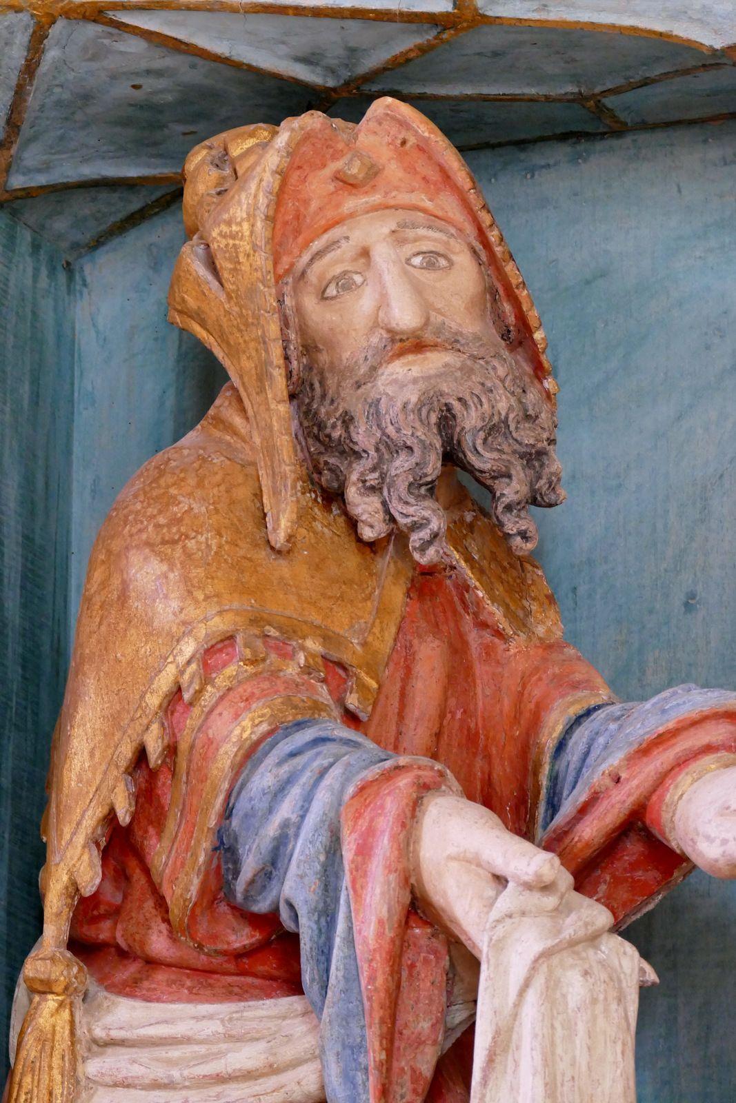 Déploration (bois polychrome, 2ème quart du XVIe siècle) de la chapelle de Quilinen en Landrévarzec. Photographie lavieb-aile juin 2020.