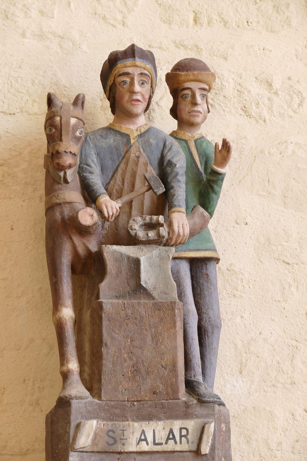 Statuaire de l'église Saint-Démet de Plozévet. Photographie lavieb-aile juillet 2020.