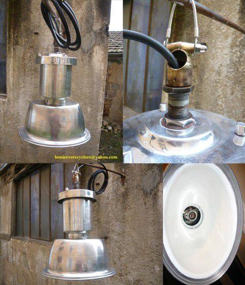 Lampadaire de Rue en Aluminium Poli Brillant - 295 euros