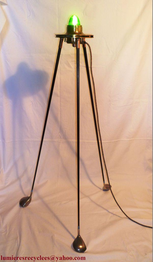 """ROSWELL"" - Lampe tripode rétro-futuriste - 195 euros"