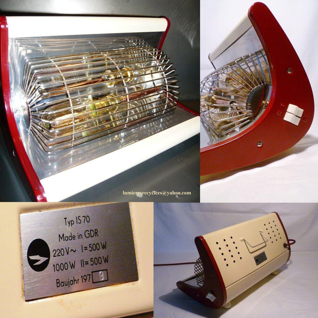 Lampe Radiant Bi-Color vintage de l'Allemagne de l'est - 115 euros