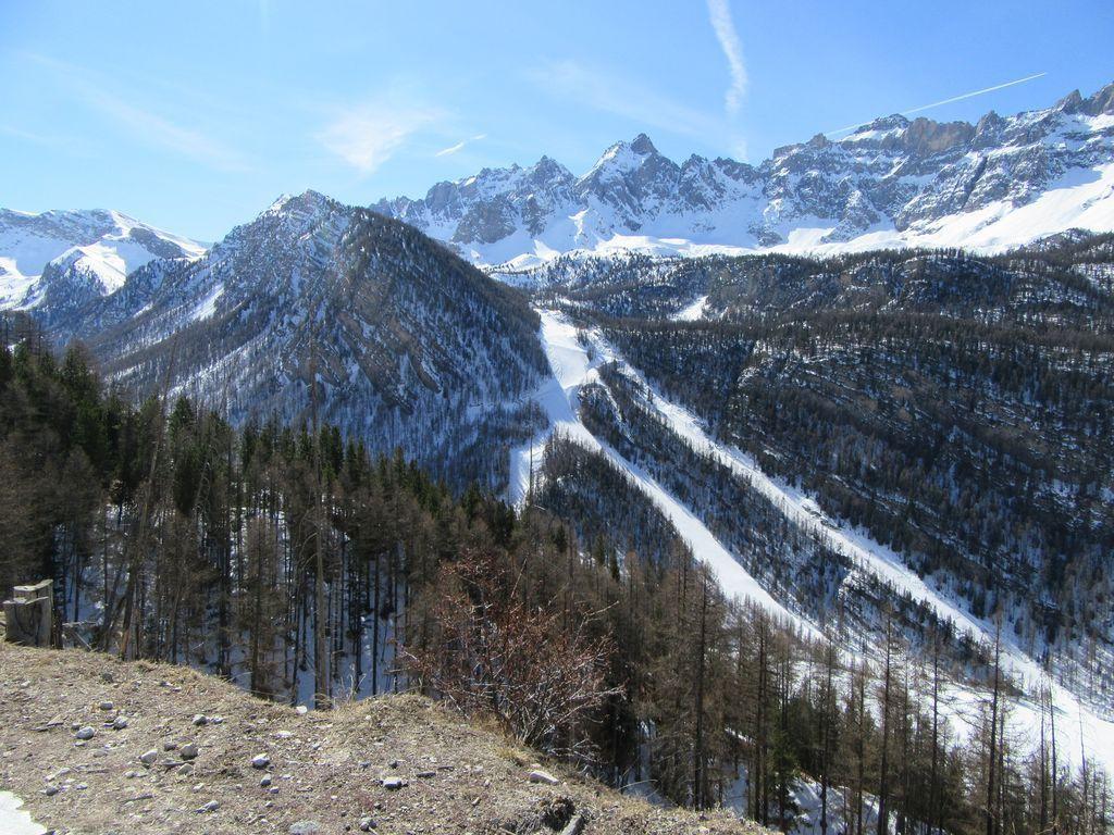 Le ski de piste en face