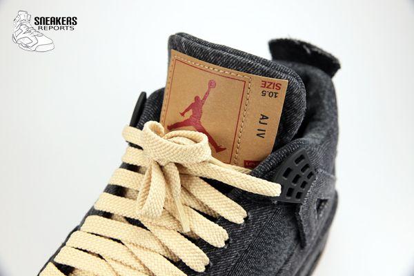 Nike Air Jordan IV Rétro LEVI'S Denim Black