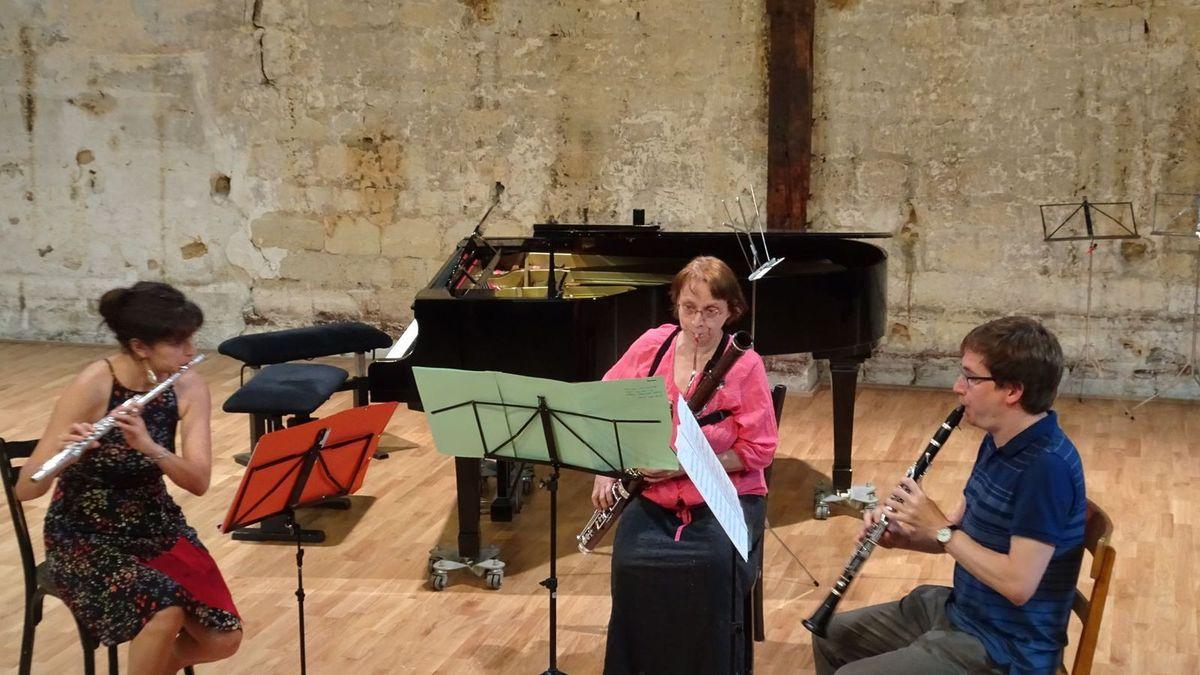 Pauline, Hélène et Sönke notre magnifique trio à vents