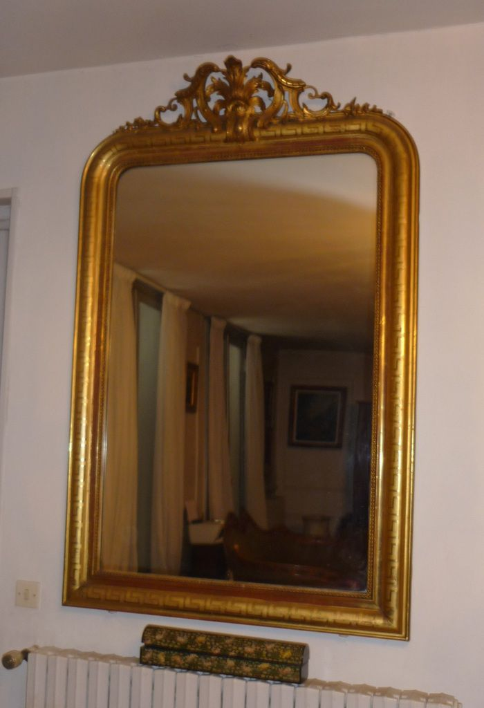 a vendre miroir de style louis xv en bois dor et stuc le blog de jadis. Black Bedroom Furniture Sets. Home Design Ideas