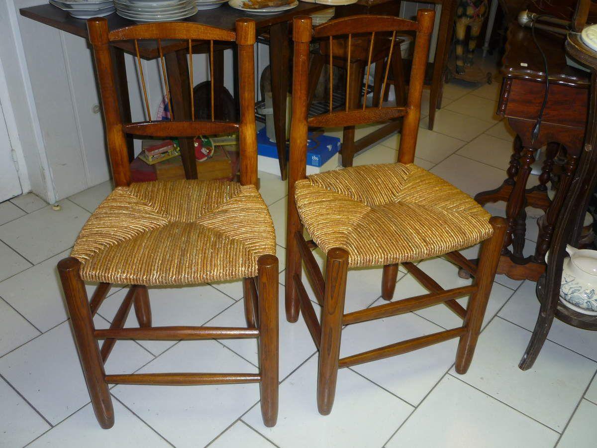 chaises anciennes en paille