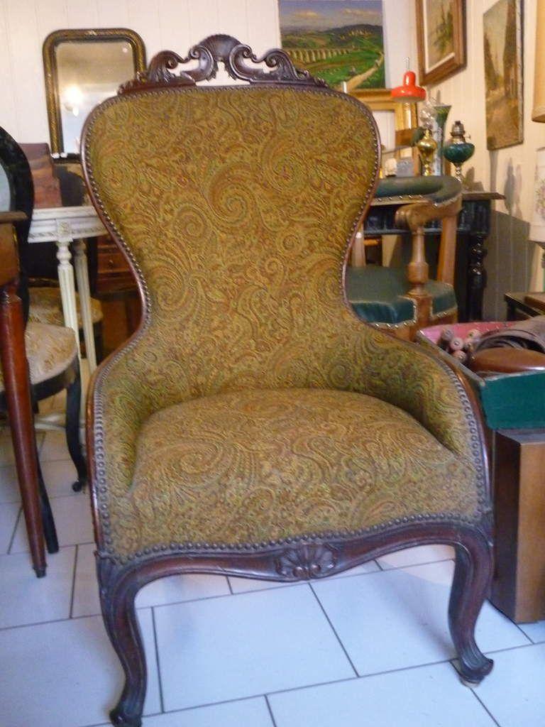Paire de fauteuils ou chauffeuses anciens à vendre, la paire 350 €