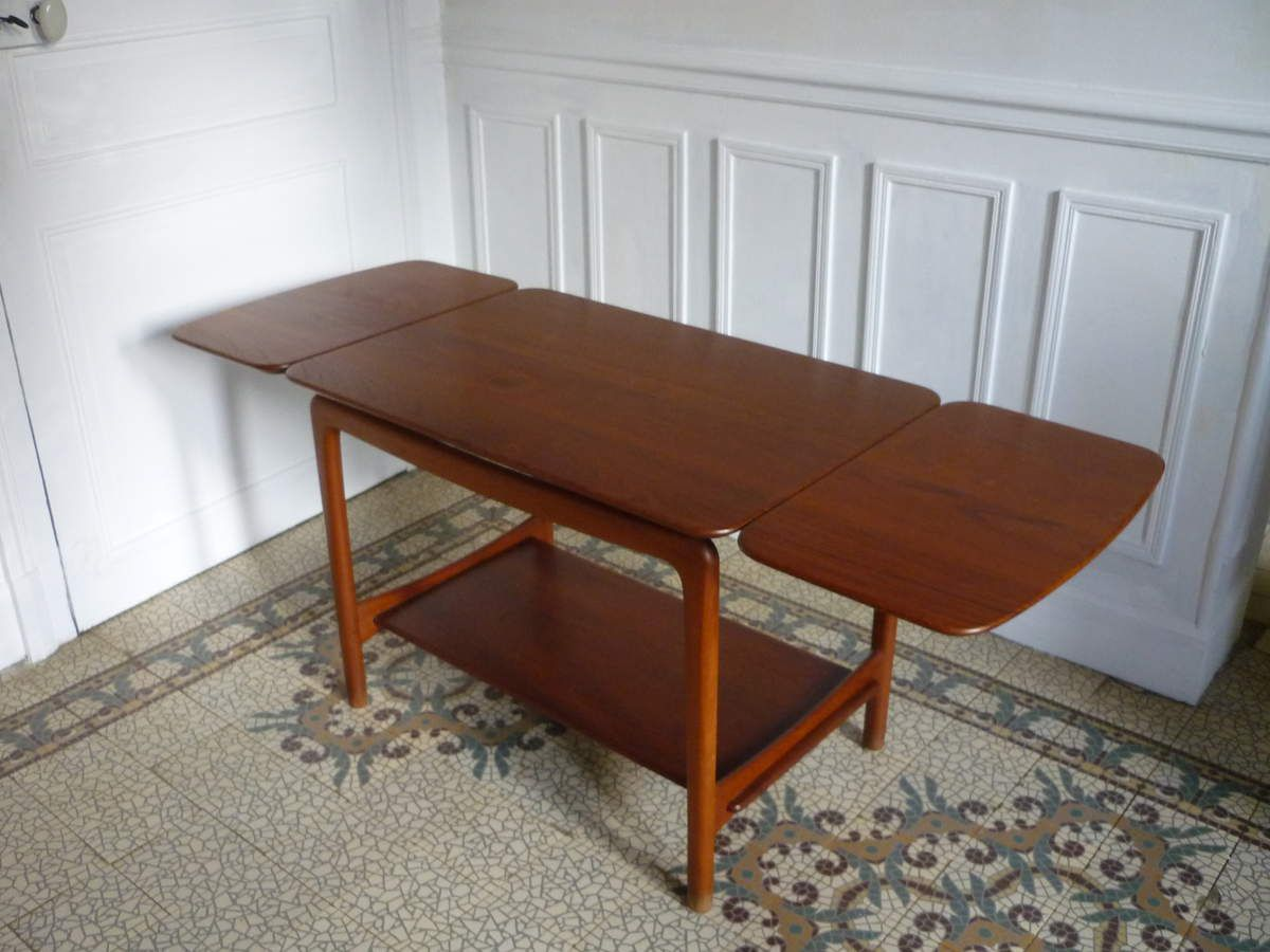 table vintage scandinave design 50 60