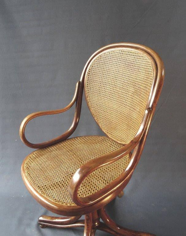 tonet, fishel, rotin, fauteuil vintage rotin, collection thonet, cannage, paillage, jadis clamecy