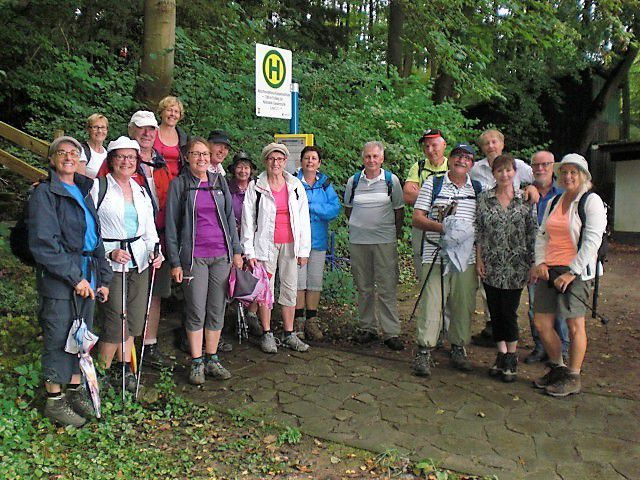 "Photo de groupe près du chalet ""Kopelwaldhütte"""