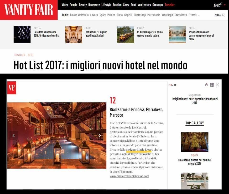 """Nous sommes dans la """"Hot List 2017"""" de VANITY FAIR"""