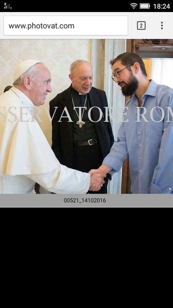 photos de l'audience du Pape François avec Mgr André-Joseph Leonard (Source Ossevatore Romano)