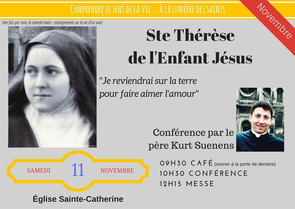 Conferenc sur Sainte Therese de l'enfant Jesus