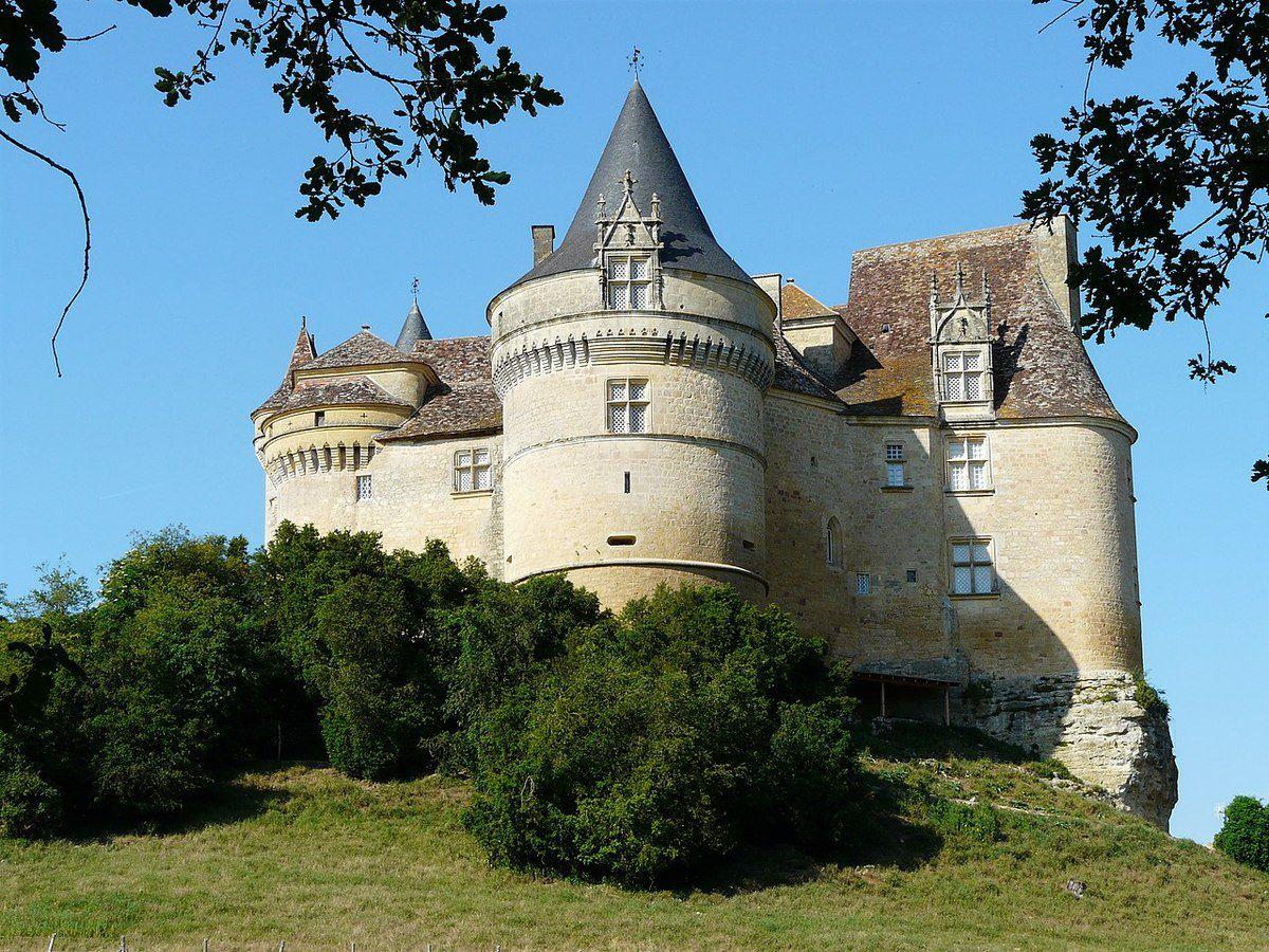 TRESORS DU PATRIMOINE FRANCAIS : BEAUMONT-DU-PERIGORD (DORDOGNE) - LE CHATEAU DE BANNES