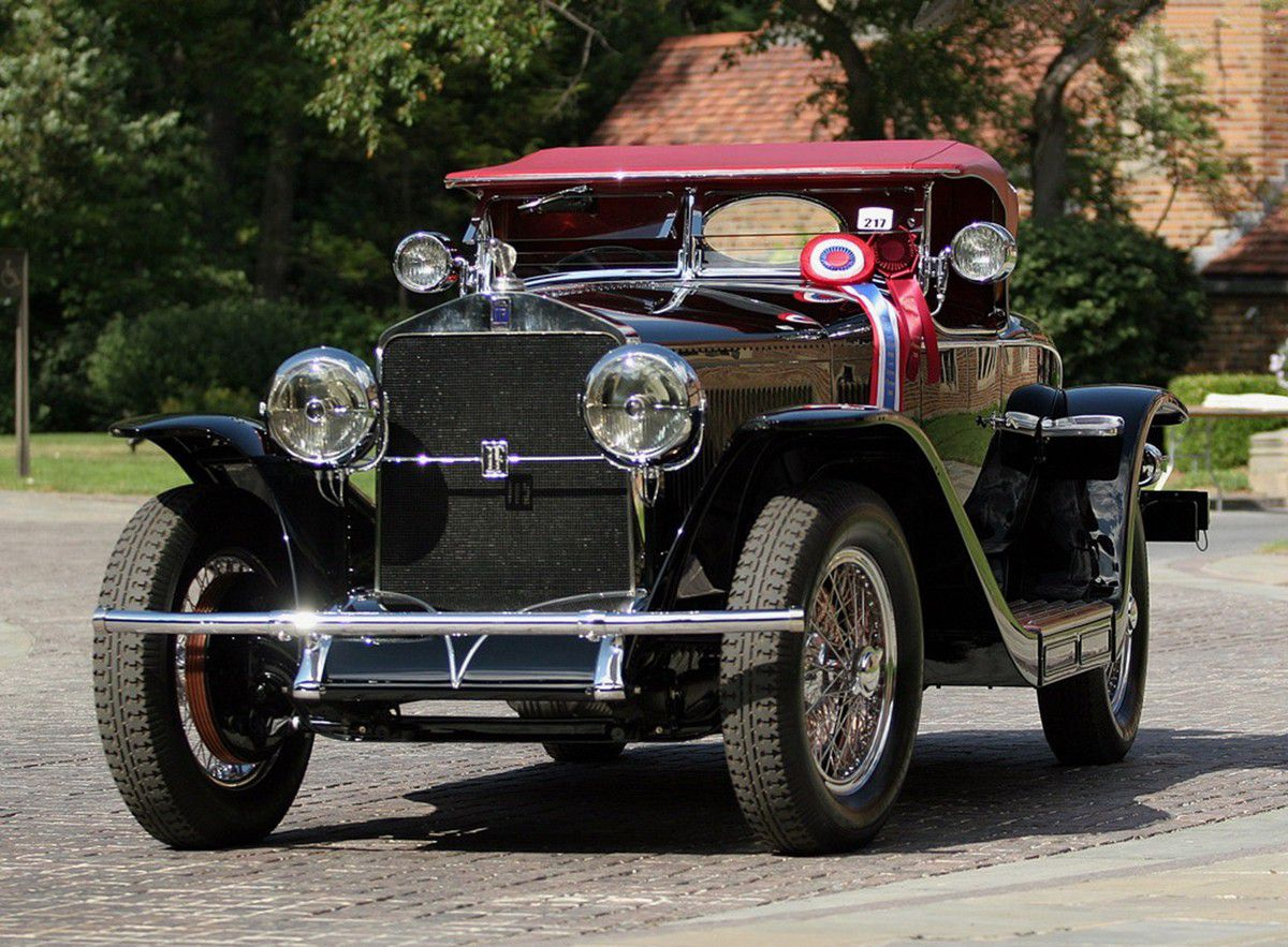VOITURES DE LEGENDE (858) : ISOTTA FRASCHINI  TIPO 8A  S  FLEETWOOD  ROADSTER - 1929
