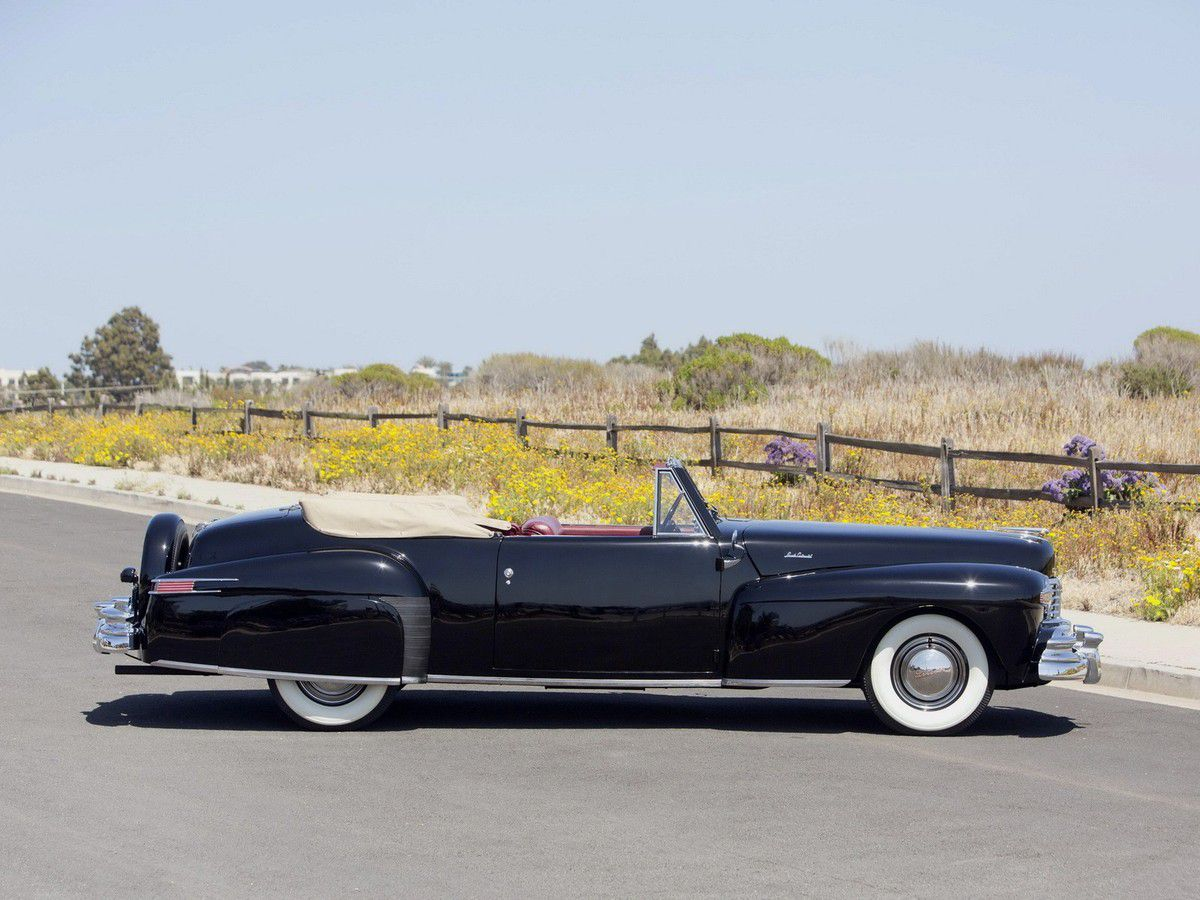 VOITURES DE LEGENDE (879) : LINCOLN CONTINENTAL CABRIOLET - 1947