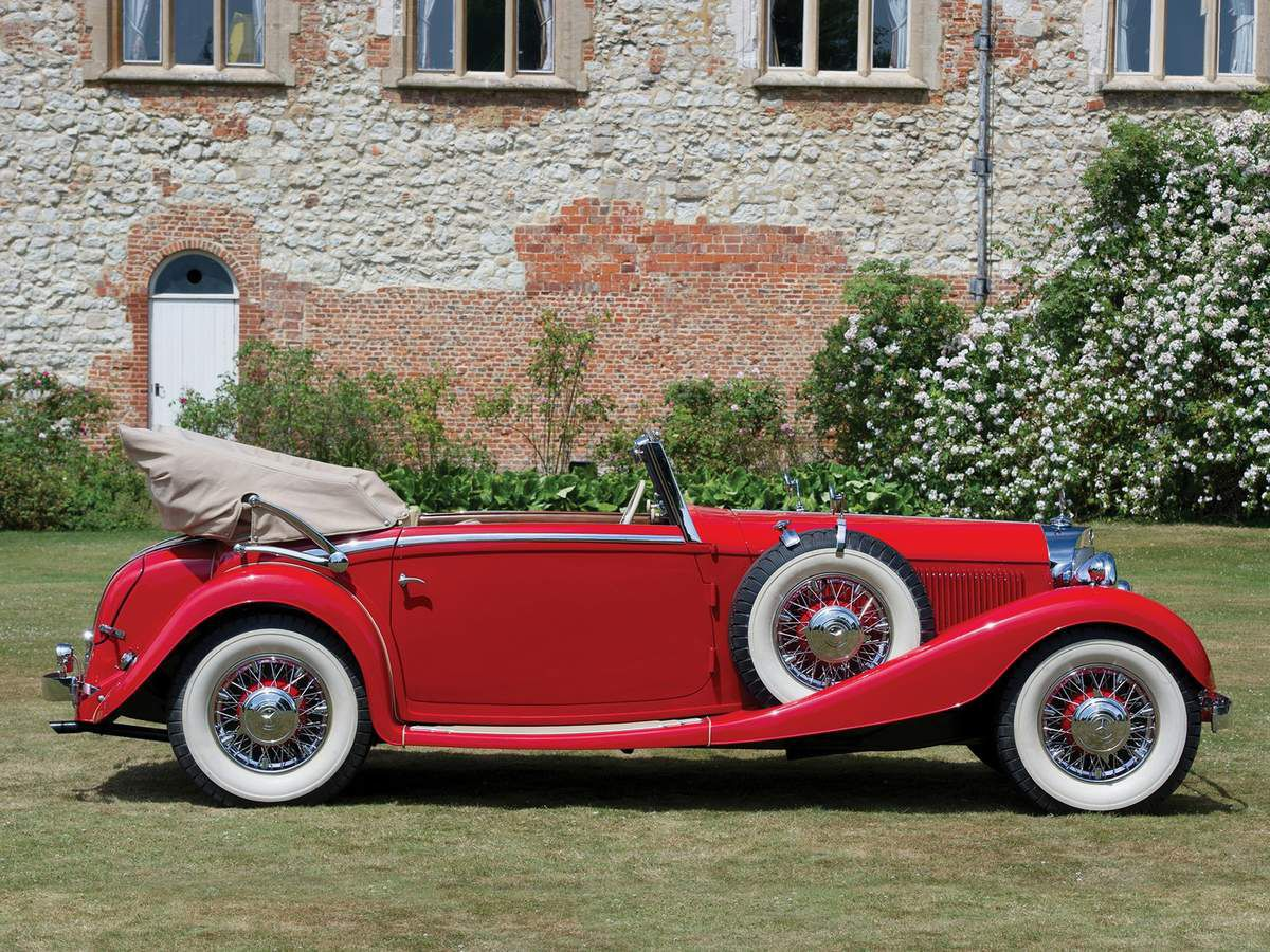 VOITURES DE LEGENDE (889) : MERCEDES-BENZ  TYPE 380K CABRIOLET C - 1933